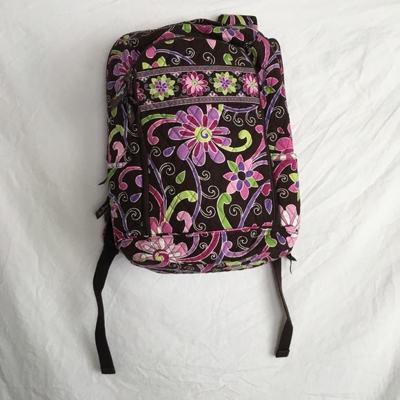 Vera Bradley Bags   Laptop Backpack Purple Punch   Poshmark 3f3c62caae